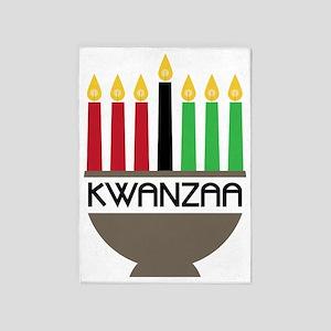 Kwanzaa 5'x7'Area Rug