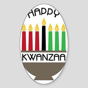 Happy Kwanzaa Sticker (Oval)