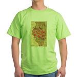Flat Illinois Green T-Shirt