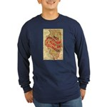 Flat Illinois Long Sleeve Dark T-Shirt