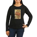 Flat Illinois Women's Long Sleeve Dark T-Shirt