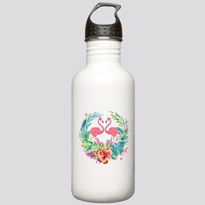 Flamingos With Colorfu Stainless Water Bottle 1.0L