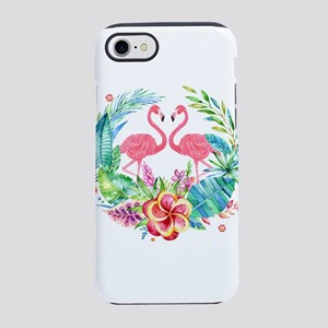 Flamingos With Colorful Tropic iPhone 7 Tough Case