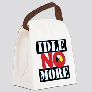 IDLE NO MORE Canvas Lunch Bag