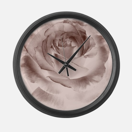 brown rose Large Wall Clock