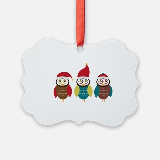 Christmas Owls Ornament
