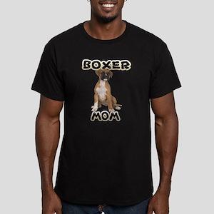 Boxer Mom Men's Fitted T-Shirt (dark)