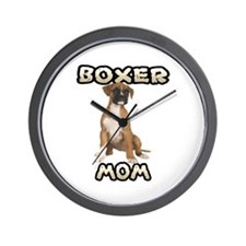 Boxer Mom Wall Clock