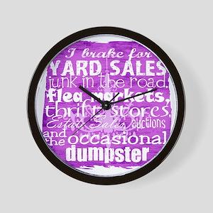 junker shirt purples Wall Clock
