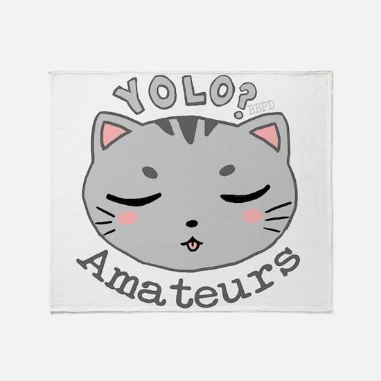 YOLO Cat Throw Blanket