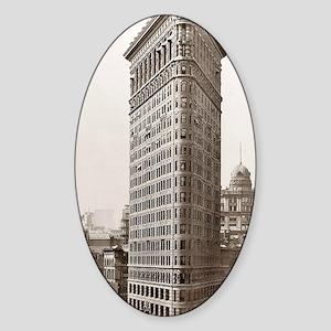 Flatiron Building Sticker (Oval)