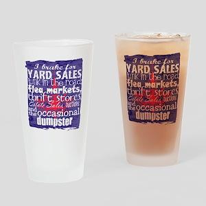 junker shirt blueredwhite Drinking Glass