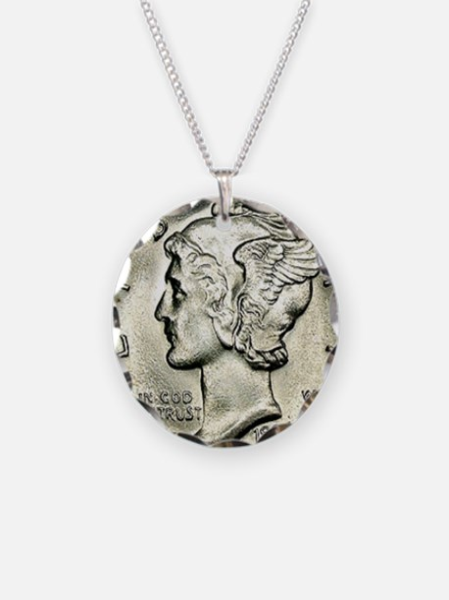 Mercury dime Necklace