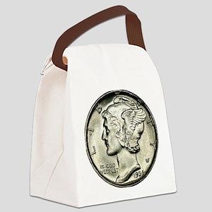 Mercury dime Canvas Lunch Bag