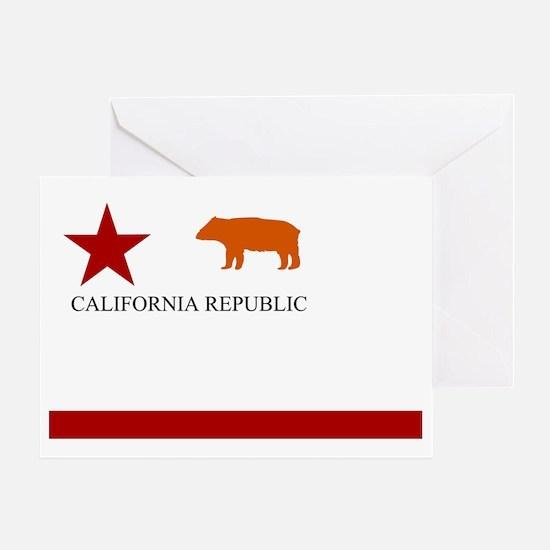 Old Cali Flag Greeting Card