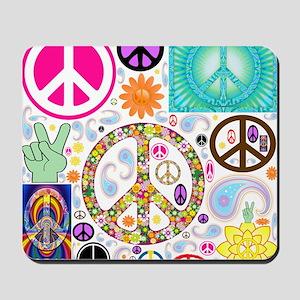 Peace  Paisley Collage Mousepad