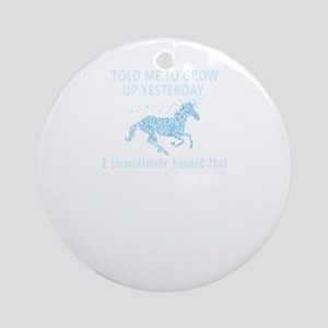 Riding My Unicorn Round Ornament
