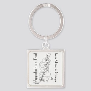 Appalachian Trail Map Square Keychain