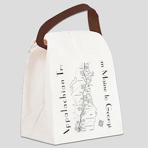 Appalachian Trail Map Canvas Lunch Bag