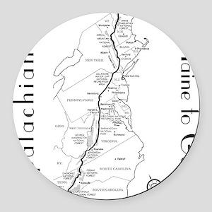 Appalachian Trail Map Round Car Magnet