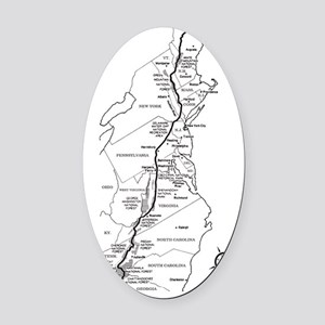 Appalachian Trail Map Oval Car Magnet