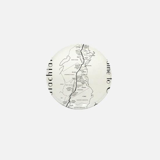 Appalachian Trail Map Mini Button