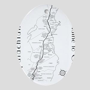 Appalachian Trail Map Oval Ornament