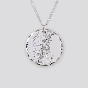 Appalachian Trail Map Necklace Circle Charm
