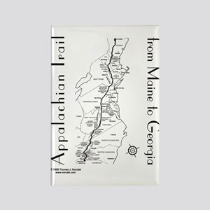 Appalachian Trail Map Rectangle Magnet