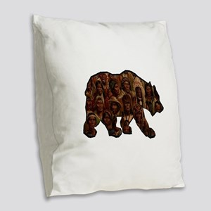 TRIBUTE TO MANY Burlap Throw Pillow