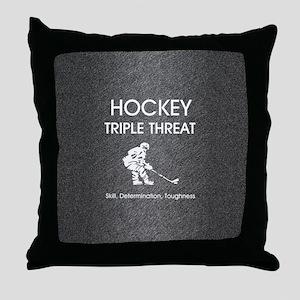 hockeysdtsq Throw Pillow