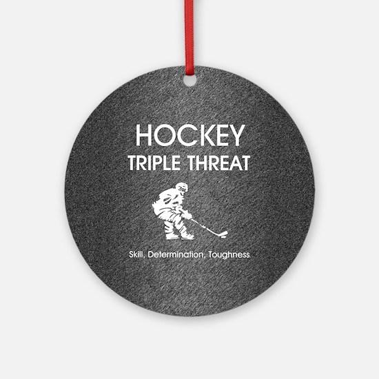 hockeysdtsq Round Ornament