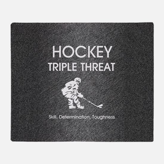 hockeysdtsq Throw Blanket