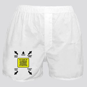 Reassemble Rock Climbing FOR BACK OF  Boxer Shorts