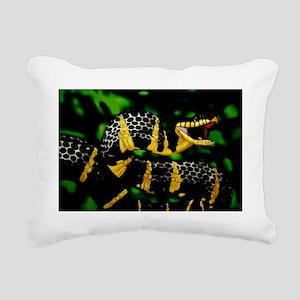 Mangrove snake Rectangular Canvas Pillow