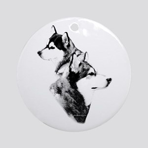 Mal Charcoal2 Ornament (Round)