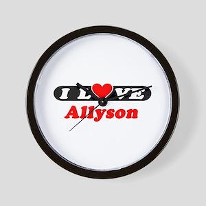 I Love Allyson Wall Clock