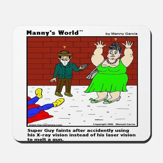 SUPERGUY FAINTS! Mousepad