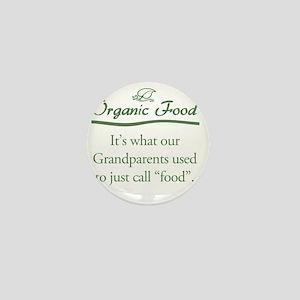 Organic Food Mini Button