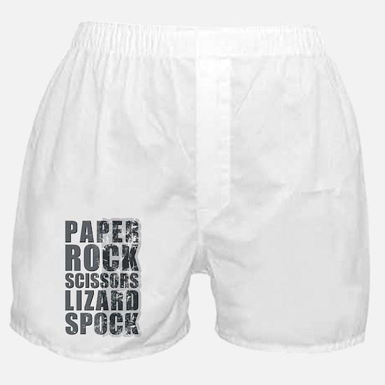 paper rock scissors lizard spock Boxer Shorts