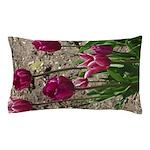 Purple Tulips Pillow Case