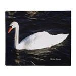 Mute Swan Double Sided Throw Blanket