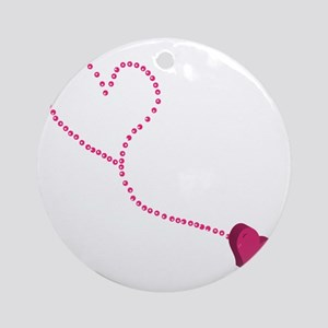 ANCHORED HEART Round Ornament