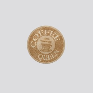Coffee Queen Stamp Logo Mini Button