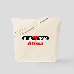 I Love Alissa Tote Bag