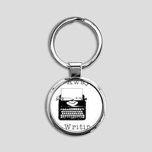 GO AWAY - Writing Round Keychain