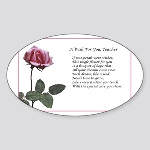 A Wish For You, Teacher Sticker (Oval)