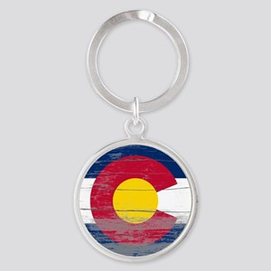 Colorado Old Paint Round Keychain