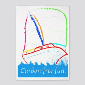 Carbon Free Fun 5'x7'Area Rug