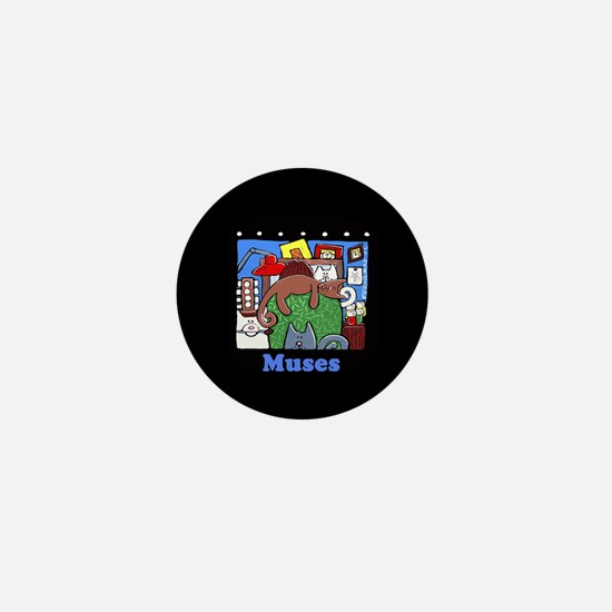 Muses, Dog, Cats, Helpers Mini Button